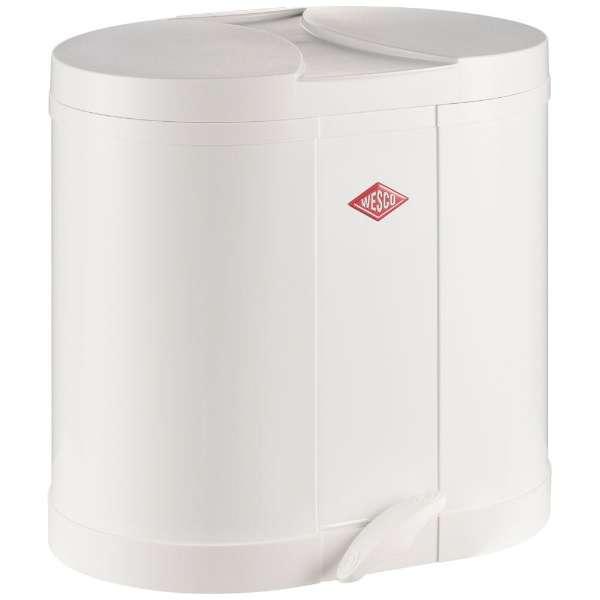 エコキッチンペダルビン&プラスチックライナー30L セパレートダブル ECO-DOUBLE BIN 170 ホワイト 170611-01