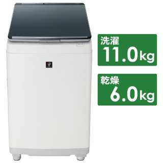 ES-PW11E-S 縦型洗濯乾燥機 シルバー系 [洗濯11.0kg /乾燥6.0kg /ヒーター乾燥(排気タイプ) /上開き]
