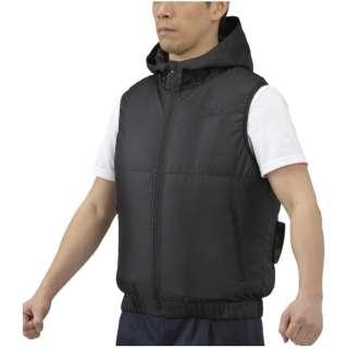メンズ エアリージャケットベスト(XLサイズ/ブラック) C2JE0102【ファン・バッテリー別売り】