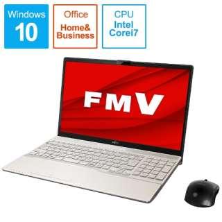FMVA53E2G ノートパソコン LIFEBOOK AH53/E2 シャンパンゴールド [15.6型 /intel Core i7 /SSD:512GB /メモリ:8GB /2020年6月モデル]