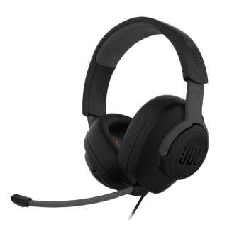 JBLQUANTUM100BLK ゲーミングヘッドセット Quantum 100 ブラック [φ3.5mmミニプラグ /両耳 /ヘッドバンドタイプ]