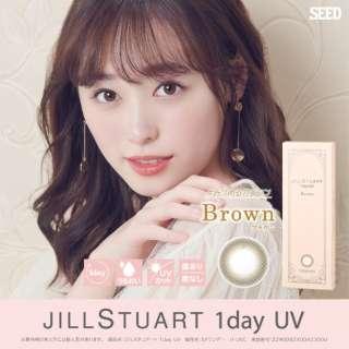 ジルスチュアート ワンデー UV ブラウン(10枚入)[JILL STUART 1day UV/1日使い捨てコンタクトレンズ/カラコン] [さらにポイントサービス]