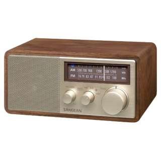 FM/AMラジオ対応 ブルートゥーススピーカー ウォールナット WR-302 [Bluetooth対応]