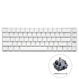 dk-one2-rgb-sf-pw-silver ゲーミングキーボード One 2 SF RGB Cherry Speed 銀軸(英語配列) ピュア ホワイト [USB /有線]