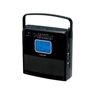 CDラジオ SAD-4707/K ブラック [ワイドFM対応]