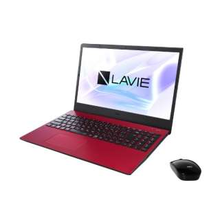 PC-N1565AAR ノートパソコン LAVIE N15(N1565/AA) カームレッド [15.6型 /AMD Ryzen 7 /SSD:256GB /メモリ:8GB /2020年夏モデル]