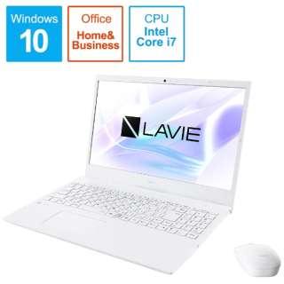 PC-N1575AZW-2 ノートパソコン LAVIE N15シリーズ パールホワイト [15.6型 /intel Core i7 /SSD:512GB /メモリ:8GB /2020年夏モデル]