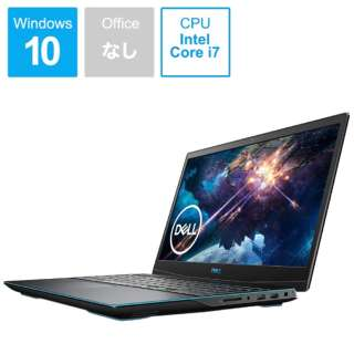NG385-ANLCB ゲーミングノートパソコン New Dell G3 15 ブラック [15.6型 /intel Core i7 /SSD:512GB /メモリ:16GB /2020年夏モデル]