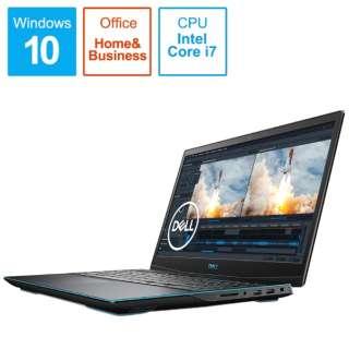 ゲーミングノートパソコン New Dell G3 15 ブラック NG385-ANHBCB [15.6型 /intel Core i7 /SSD:512GB /メモリ:16GB /2020年夏モデル]