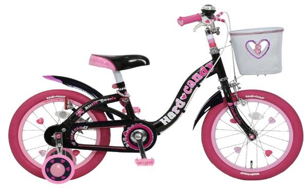 18型 幼児用自転車 ハードキャンディキッズ18(ブラック/シングルシフト)