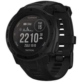 010-02293-44 Instinct Dual Power Tactical Edition Black [smartモード:最大24日間+30日間、GPS モード:最大30時間+8時間、Expedithinモード: 最大28日間+40日間、バッテリー節約ウォッチモード:最大56日間+無制限]