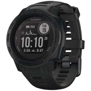 010-02293-31 Instinct Dual Power Graphite [smartモード:最大24日間+30日間、GPS モード:最大30時間+8時間、Expedithinモード: 最大28日間+40日間、バッテリー節約ウォッチモード:最大56日間+無制限]