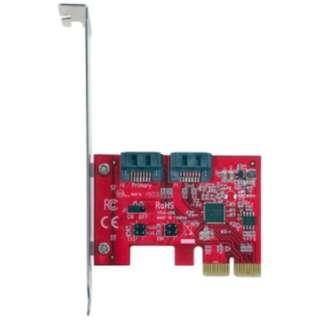インターフェースカード 内部 SATA3x2ポート[PCI-Express] SATA3-HWR-I2-PCIE