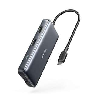 A83800A1 Anker PowerExpand 8-in-1 USB-C PD メディア ハブ gray A83800A1