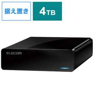 ELD-FTV040UBK 外付けHDD タイムシフトマシン対応 テレビ録画向け ブラック [据え置き型 /4TB]