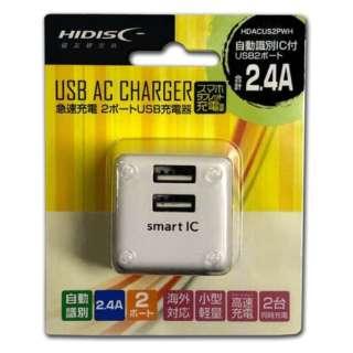 AC USBチャージャー 2ポートタイプ