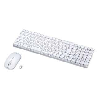 SKB-WL34SETW キーボード・マウスセット ホワイト [USB /ワイヤレス]