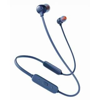 ブルートゥースイヤホン カナル型 ブルー JBLT115BTBLU [リモコン・マイク対応 /ワイヤレス(左右コード) /Bluetooth]