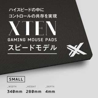 PSHSAAX ゲーミングマウスパッド [340x280x4mm] HARD/SPEED Sサイズ ブラック