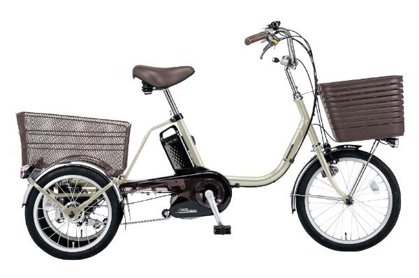 電動アシスト三輪自転車 ビビライフ STチタンシルバー BE-ELR833T [18(前輪)/16(後輪)インチ /3段変速]