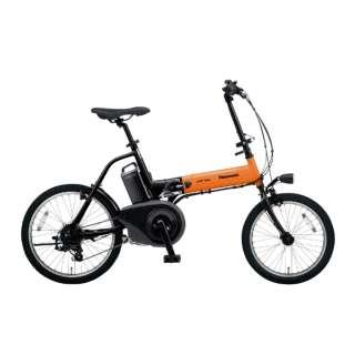 18/20型 折りたたみ電動アシスト自転車 オフタイム(オレンジ×ブラック/外装7段変速) BE-ELW073AK【2020年モデル】 【組立商品につき返品不可】