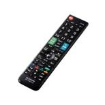 かんたんTVリモコン第2弾 三菱・リアル用 ブラック ERC-TV02XBK-MI