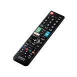 かんたんTVリモコン第2弾 パナソニック・ビエラ用 ブラック ERC-TV02XBK-PA