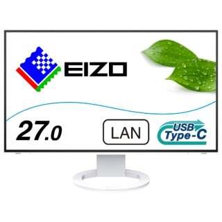 EV2795-WT USB-C接続 PCモニター FlexScan ホワイト [27型 /ワイド /WQHD(2560×1440)]