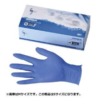 ニトリル シルクゴム手袋(粉無) ブルー S <SNT0402>