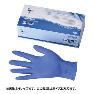 ニトリル シルクゴム手袋(粉無) ブルー L <SNT0404>