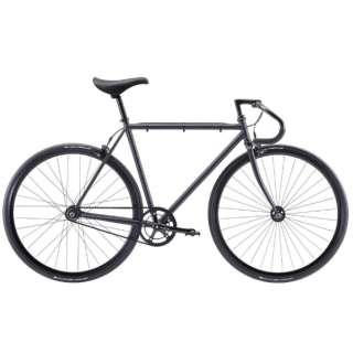700×25C クロスバイク FEATHER(Matte Black/シングルスピード・49cm:適応身長 163~170cm) 【2021年モデル・組立商品につき返品不可】