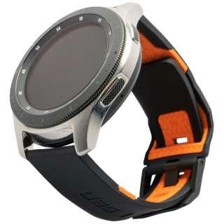 UAG社製 Galaxy Watchバンド 46mm用 CIVILIANシリーズ(ブラック/オレンジ) UAG-RGWLC-B/O