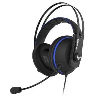 TUF GAMING H7 Core ゲーミングヘッドセット ブルー [φ3.5mmミニプラグ /両耳 /ヘッドバンドタイプ]