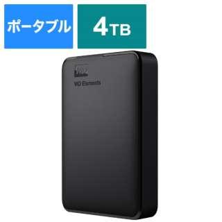 WDBU6Y0040BBK-JESE 外付けHDD USB-A接続 WD Elements Portable [4TB /ポータブル型]