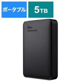 WDBU6Y0050BBK-JESE 外付けHDD USB-A接続 WD Elements Portable [5TB /ポータブル型]