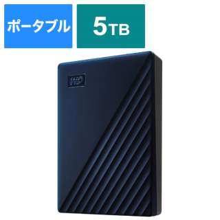 WDBA2F0050BBL-JESE 外付けHDD USB-C+USB-A接続 My Passport for Mac [ポータブル型 /5TB]