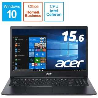 ノートパソコン Aspire 3 チャコールブラック A315-34-A14U/KF [15.6型 /intel Celeron /SSD:256GB /メモリ:4GB /2020年8月モデル]