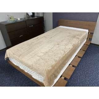 【毛布】ソフトタッチなめらか毛布 エマ シングルサイズ(140x190cm/ブラウン)