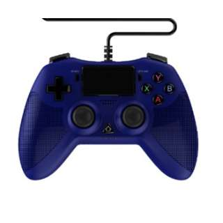 PS4/PS3/PC用 シンプルターボコントローラ 零~ZERO~ ブルー ANS-PF069BL 【PS4/PS3/PC】