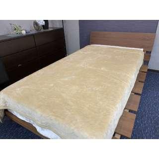 【毛布】綿入り合わせなめらか毛布 ハンク シングルサイズ(140x200cm/ベージュ)
