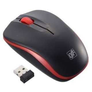PC-SMWIMS32K 静音ワイヤレスマウス IR LED Mサイズ ブラック/レッド