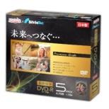 DVD-R データ用 1-16倍速対応 5枚 ケース入り ゴールドレーベル