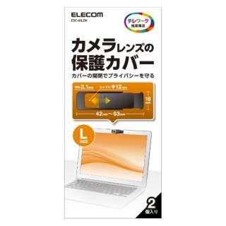 Webカメラレンズ 保護カバー (Lサイズ /2個入) ESE-03LBK