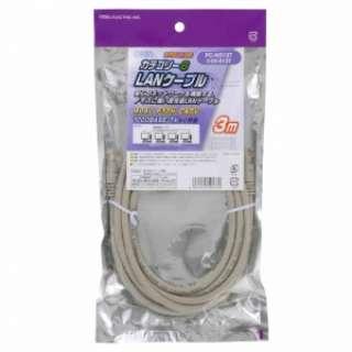 PC-N0137 LANケーブル カテゴリー6 3m [3m /カテゴリー6]
