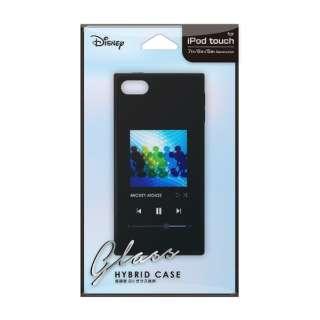 iPod Touch(第5/6/7世代)用 ガラスハイブリッドケース ミッキーマウス/ブラック Premium Style ミッキーマウス/ブラック PG-IT7DGT01MKY [iPod touch用]