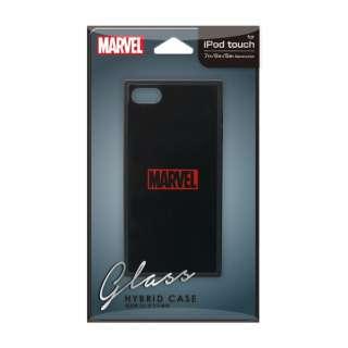 iPod Touch(第5/6/7世代)用 ガラスハイブリッドケース ロゴ/ブラック Premium Style ロゴ/ブラック PG-IT7DGT03MVL [iPod touch用]