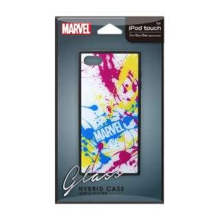 iPod Touch(第5/6/7世代)用 ガラスハイブリッドケース スプラッシュロゴ/ホワイト Premium Style スプラッシュロゴ/ホワイト PG-IT7DGT04MVL [iPod touch用]
