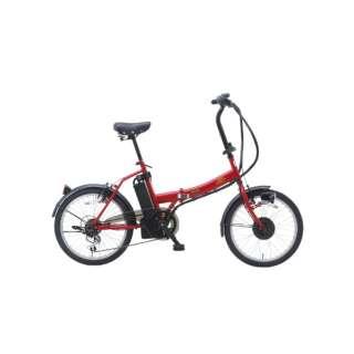 20型 折りたたみ 電動アシスト自転車 SUISUI Street(マットレッド/外装6段変速) BM-AZ300 RE 【組立商品につき返品不可】
