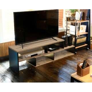 ヴィンテージスタイルスライドローボード 伸縮 テレビ台 CSLB-1000OAK3DBK