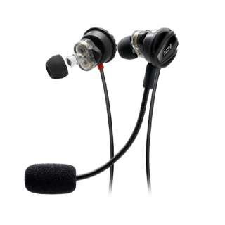 ADVNISMOJR-BLK ゲーミングヘッドセット[3.5mmミニプラグ /両耳 /イヤホンタイプ] Nsmo Jr. ブラック [φ3.5mmミニプラグ /両耳 /イヤホンタイプ]